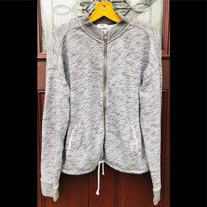 Levi's Gray Heather Full ZIP Sweatshirt Size L